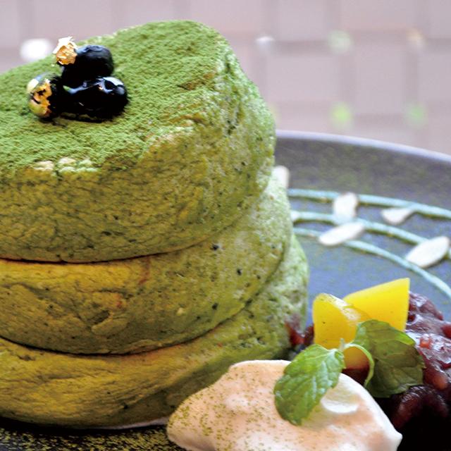 抹茶KYOTO店オリジナルパンケーキ