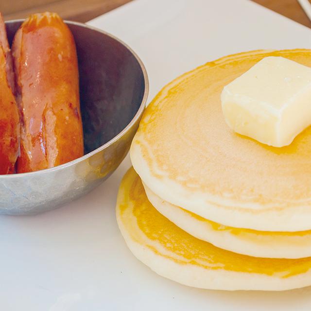 プチパンケーキと<br>ソーセージのプチセット