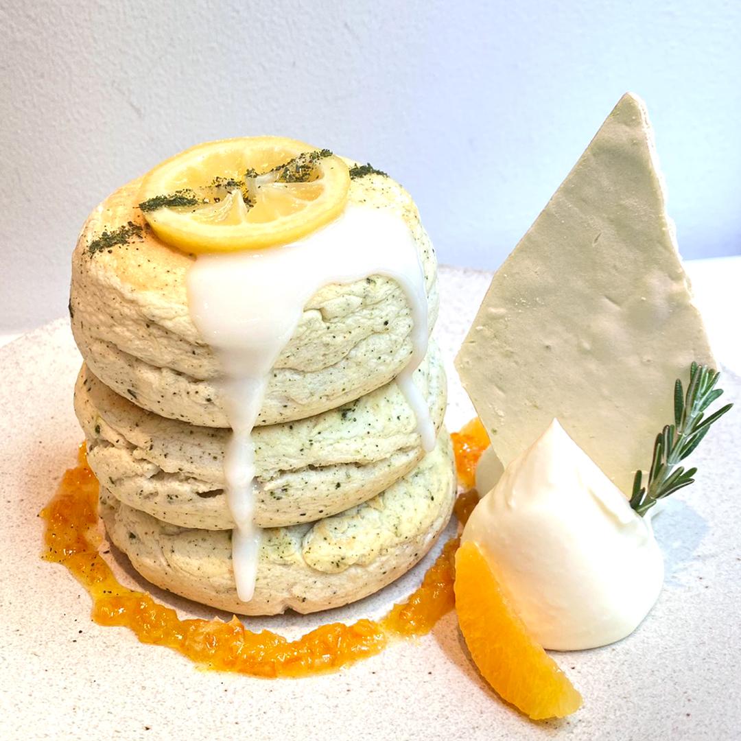 〔期間限定!〕煎茶香る!夏の和風レモンパンケーキ